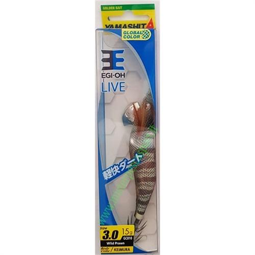 Yamashita Global Color EGI OH LIVE  3.0 15g col. GC010 Wild Prawn Body Color KEIMURA-10