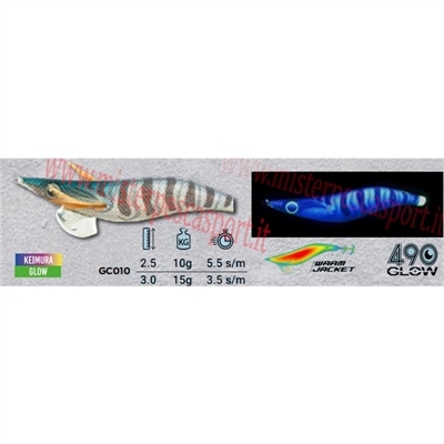 Yamashita Global Color EGI OH LIVE  3.0 15g col. GC010 Wild Prawn Body Color KEIMURA-10 b