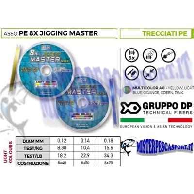 Trecciato Asso PE 8x Jigging Master 8 capi