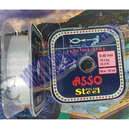 Monofilo Asso Polya Steel bobina da 100m