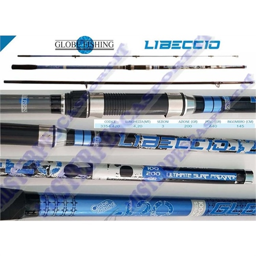 Canna Libeccio 4,20 mt globe fishing 100 - 200 gr. b