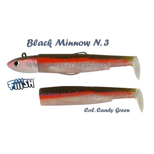 Fiiish Black Minnow mis. 3  25g + 1 corpscombo candy greeen 2