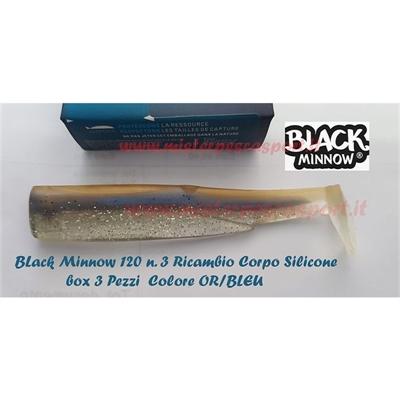 Fiish Black Minnow 120  n.3 Ricambio corpo siliconico box 3 pz Col. OR. BLEU r