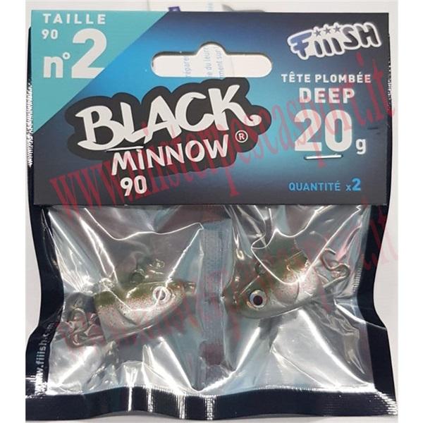 Testa di ricambio Fiish Black Minnow 90 OFF SHORE n. 2 10g Col. KAKI Conf. da 2 Pz--