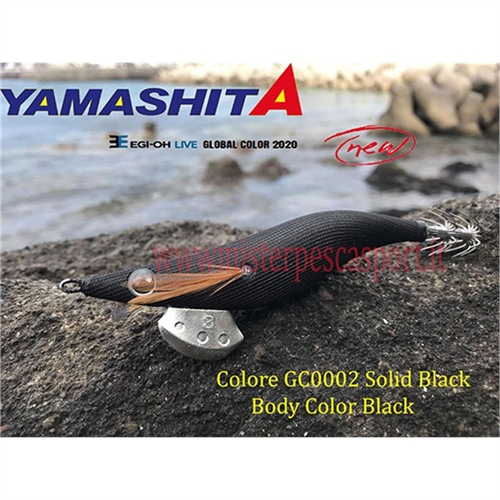 Yamashita Global Color EGI OH LIVE  3.0 15g col. GC002 Solid Black Body Color BLACK r