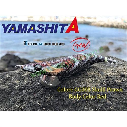 Yamashita Global Color EGI OH LIVE  3.0 15g col. GC005 Skull Prawn Body Color Red r