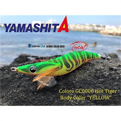 Yamashita Global Color EGI OH LIVE  3.0 15g col. GC006 Hot Tiger, Body Color ,YELLOW r
