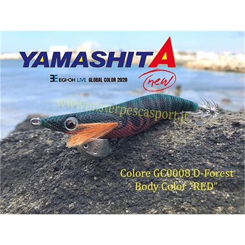 Yamashita Global Color EGI OH LIVE  3.0 15g col. GC008 D Forest Body Color Red r