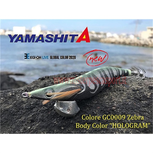 Yamashita Global Color EGI OH LIVE  3.0 15g col. GC009 Zebra Body Color HOLOGRAM r